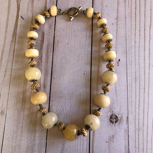 Vintage glass beaded necklace